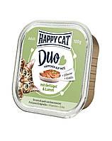 HAPPY CAT Duo паштет, курица и ягненок 100 g