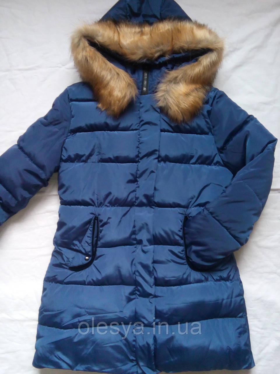 Тепла зимова куртка на дівчинку підлітка Розмір 44-46