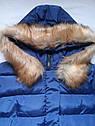 Тепла зимова куртка на дівчинку підлітка Розмір 44-46, фото 2