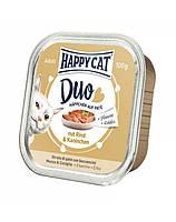 HAPPY CAT Duo паштет, говядина и кролик 100 g