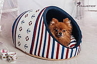 Домик-лукошко для кошек и маленьких собак Haustier Del Mare 47x40x28см