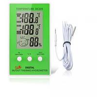 Гигрометр - термометр смайлик с выносным датчиком, часы, метеостанция для дома
