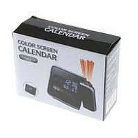 Часы метеостанция с проектором времени и цветным дисплеем, настольные часы, электронные, для дома