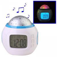 Часы 1038 с проэктором звездного неба , настольные часы, электронные, для дома, проэктор звездного неба