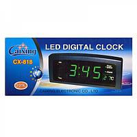 Настольные LED часы Caixing CX 818 , настольные часы, электронные, для дома