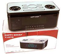 Часы Happy Sheep YJ 8118 с радиоприемником, сетевые, настольные часы, электронные, для дома