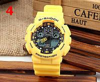 Часы Casio G-Shock GA100, желтые , наручные часы, мужские часы, электронные, спортивные часы
