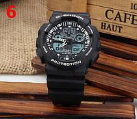 Часы Casio G-Shock GA100, черные с белым , наручные часы, мужские часы, электронные, спортивные часы