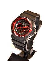 Наручные часы Casio G-Shock Protection(черные с красным ), спортивные,мужские часы, электронные, made in Japan