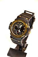 Наручные часы Casio G-Shock gulfmaster(черные с золотым), спортивные,мужские часы, электронные, made in Japan