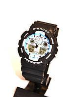 Наручные часы Casio G-Shock (черные с белым), спортивные,мужские часы, электронные, made in Japan