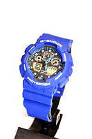 Наручные часы Casio G-Shock GA-100 (синие), спортивные,мужские часы, электронные, made in Japan