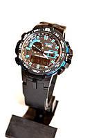 Наручные часы Casio Pro Trek PRW6000 (черные с синим), мужские, электронные, спортивные часы