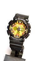 Многофункциональные часы Casio G-Shock GA-200(черные с оранжевым), карцевые, мужские, спортивные, наручные