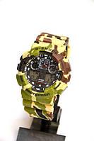 Многофункциональные часы Casio G-Shock GA-100 Military Army Камуфляж, кварцевые, мужские, спортивные, наручные, фото 1