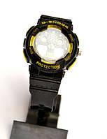 Многофункциональные часы Casio G-Shock (черные с желтым), кварцевые, мужские, спортивные, наручные, фото 1