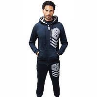 Утеплённый Спортивный костюм  в стиле  Philipp Pleinс капюшоном