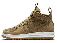 "Зимние кроссовки мужские Nike Lunar Force 1 Flyknit Workboot ""Golden Beige"" (855984-200)"