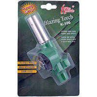 Универсальная газовая горелка Blazing Torch N-106, с пьезоподжигом, регулировкой силы пламени