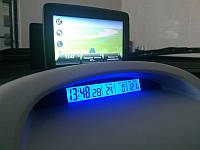 Автомобильные часы с термометром vst-7013V, автотовары