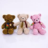 """Мягкая игрушка 040 """"Мишка"""" 3 цвета, в сидячем положении 29 см, полная высота 50см"""
