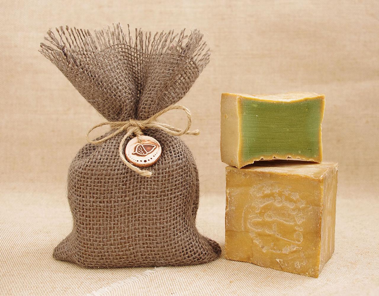 Традиционное алеппское мыло Kadah,  5% лавра, 200g.(в полотняном мешочке с фишкой), Турция