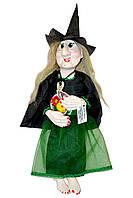 """Кукла-оберег """"Баба Яга Колдунья"""", зеленая"""