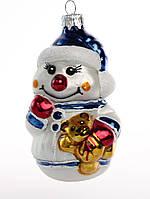 Формовая стеклянная игрушка Снеговик