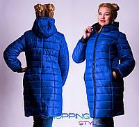 Женская зимняя длинная куртка