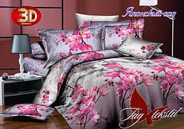 Двуспальный комплект постельного белья Японский сад с компаньоном ТМ TAG