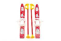 Детские пластиковые лыжи с палками Marmat (длина - 70 см) красный ТМ Marmat SKI-30-95