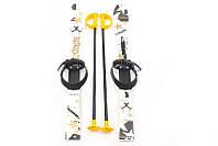 Детские пластиковые лыжи с палками Marmat (длина - 90 см) белый ТМ Marmat SKI-01-95