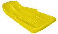 Детские пластиковые санки PLAST KON Simple жёлтые ТМ PLAST KON SAN-00-48