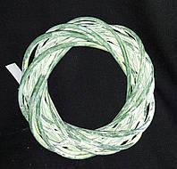 Зеленый деревянный веночек, лоза, 25 см., 85 гр.