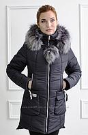 Куртка парка зимняя женская молодежная на холлофайбере Размеры 44, 52