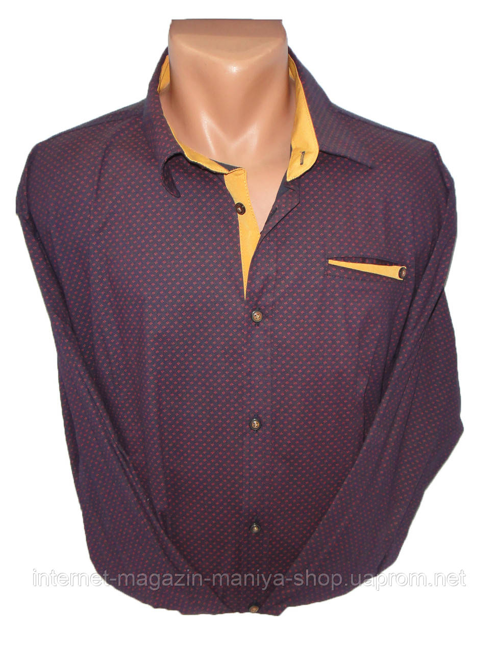 Рубашка мужская рукав длинный батал
