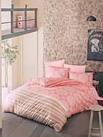 Постельное белье Luoca Patisca ранфорс Morbido розовое Двуспальный евро комплект