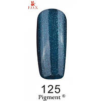 Гель-лак F.O.X. № 125 темно-синий с мелким зеленым микроблеском , 6 ml