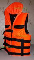Спасательный жилет с подголовником «Адмирал» люкс оранжевый, товары для спасения на воде, безопасность