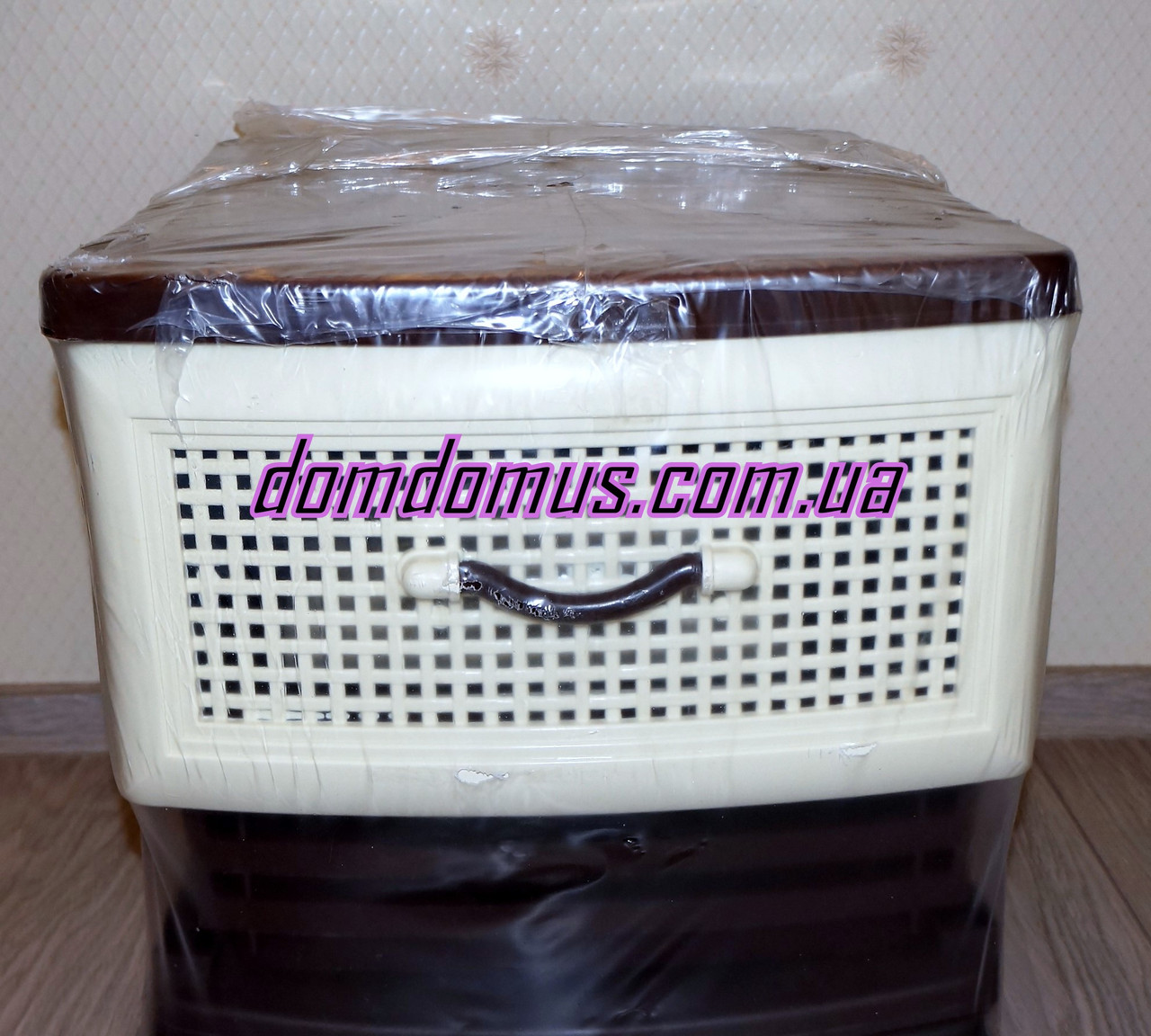 Комод пластиковый 4 ящика Фаворит, бежевый