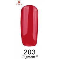 Гель-лак F.O.X. №203 красно-малиновый, эмаль 6 ml