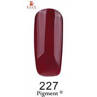 Гель-лак F.O.X. № 227 бордовый приглушенный , эмаль 6 ml