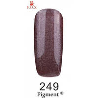 Гель-лак F.O.X. № 249 бежево-коричневый с микроблеском 6 ml