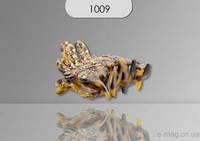 Заколка Краб леопард. со стразами средняя малахит 1009