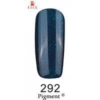 Гель-лак F.O.X. № 292 синий с зеленым микроблеском, 6 ml