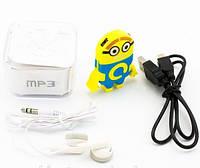 """Mp3 плеер """"Миньон """", наушники + кабель,коробка , оригинальный дизайн, гарнитура"""