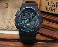 Часы Casio G-Shock GA100, черные с синим , наручные часы, мужские часы, электронные, спортивные часы