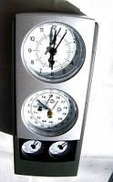Метеостанция часы , домашний барометр, гигрометр, термометр, влагомер, часы, будильник (квадрат вертикальный)