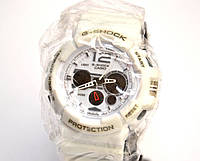 Многофункциональные часы Casio G-Shock Protection (белые), кварцевые, мужские, спортивные, наручные