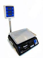Весы торговые Спартак 208 до 50 кг, со счетчиком цены , со стойкой, торговое оборудование, весы, электронные